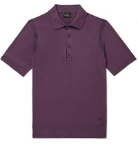 Paul Smith Ps Knitted Cotton Polo Shirt Purple
