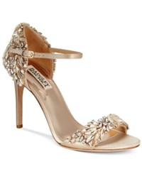 Badgley Mischka Tampa Ankle Strap Evening Sandals Women's Shoes Nude