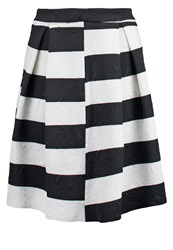 Anonyme Designers Pleated Skirt Black White