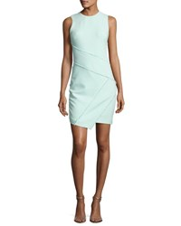 Cinq A Sept Josie Fringe Trim Sleeveless Dress Light Aqua Blue