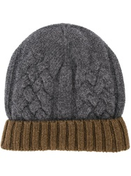 Paul Smith Cable Knit Beanie Grey