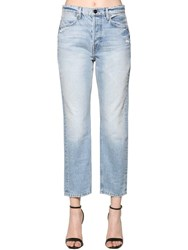 Frame High Rise Boyfriend Denim Jeans Light Blue