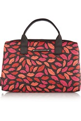 Diane Von Furstenberg Voyage Double Train Printed Shell Cosmetics Ase Red