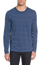 Tailor Vintage Men's Sailor Stripe Jersey T Shirt Indigo Natural Stripe