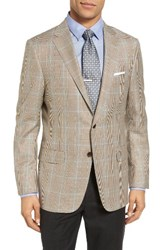 Hickey Freeman Men's Beacon Classic Fit Plaid Wool Sport Coat