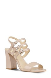 Nine West Women's Hadil Strappy Sandal Natural Faux Leather