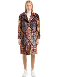Stella Jean Printed Velvet Coat Multicolor