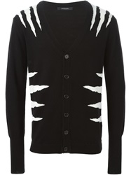 Unconditional Zebra Intarsia Cardigan Black