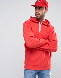 Asos Oversized Hoodie In Red Blood Red