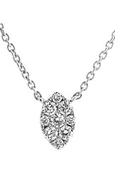 Women's Bony Levy Mini Marquise Pave Diamond Pendant Necklace Nordstrom Exclusive