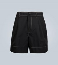 Wales Bonner Double Pleated Shorts Black