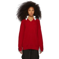 Undercover Red Knit Sweater