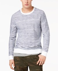 American Rag Men's Layered Striped Shirt Created For Macy's Bright White