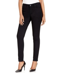 Style And Co. Low Rise Skinny Jeans Deep Black Wash Only At Macy's