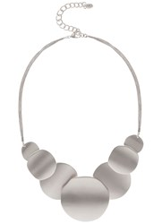 Mint Velvet Silver Toned Brushed Statement Necklace Silver