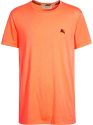 Burberry Cotton Jersey T Shirt Yellow And Orange