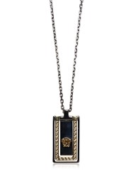 Versace Medusa And Greek Motif Chain Necklace
