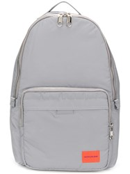 Calvin Klein Jeans Logo Patch Backpack Grey