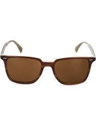 Oliver Peoples 'Opll' Sunglasses Brown