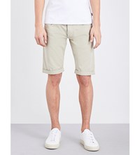 Armani Jeans Straight Cotton Jersey Shorts Beige