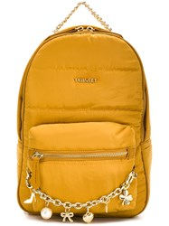Twin Set Charm Chain Detail Backpack Yellow