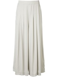 Just Female Draped Palazzo Pants Nude Neutrals