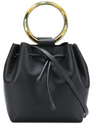 Theory Wax Cord Hoop Shoulder Bag Black