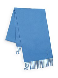 Yves Saint Laurent Wool And Cashmere Scarf Indigo
