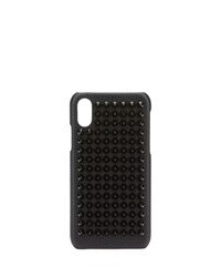 Christian Louboutin Studded Loubiphone Case For Iphone X Black