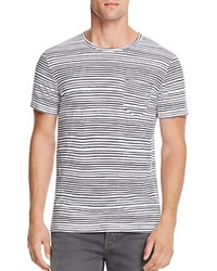 Splendid Wave Stripe Pocket Tee White