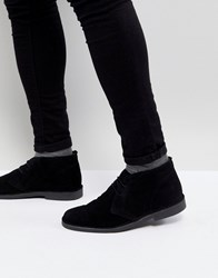 Pier One Suede Desert Boots In Black