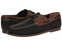 Polo Ralph Lauren Bienne Black Tan Waxy Pull Up Men's Flat Shoes