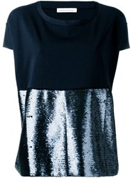 Stefano Mortari Sequin Panel Top Blue