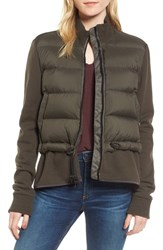 James Perse Women's Mixed Media Down Jacket Fern