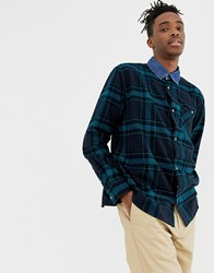 Weekday Plumber Shirt In Blue Check