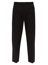 Saturdays Nyc Varick Water Repellent Cotton Trousers Black