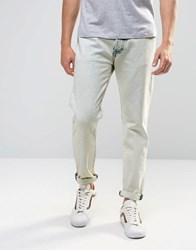 Levi's 501 Ct Tapered Jeans Michael Bleached Wash Michael Blue