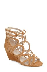 Kenneth Cole Women's New York 'Dylan' Wedge Sandal Umber Suede