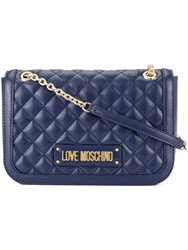 Love Moschino Soft Quilted Shoulder Bag Blue