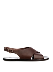 Ancient Greek Sandals Marios Cross Over Leather Sandals
