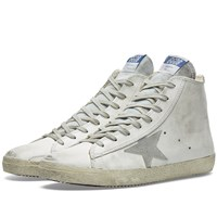 Golden Goose Deluxe Brand Frenchie Leather High Sneaker White