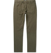 Todd Snyder Class Slim Fit Stretch Cotton Twill Chinos Green
