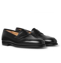George Cleverley Bradley 2 Leather Penny Loafers Black