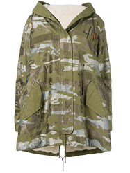 Mr And Mrs Italy Printed Hooded Parka 60