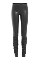 Jitrois Leather Leggings Black