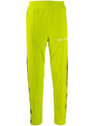 Palm Angels Side Striped Track Pants Green