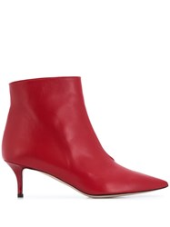 Marc Ellis Heeled Ankle Boots Red