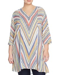 Nic And Zoe Plus Chevron Tunic Multi