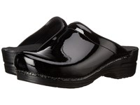 Dansko Sonja Black Patent Women's Clog Shoes
