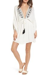 Lost Wander Festival Embroidered Dress White